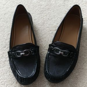 COACH Driving Loafers Allover Print